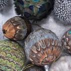 Boule décoration en plume