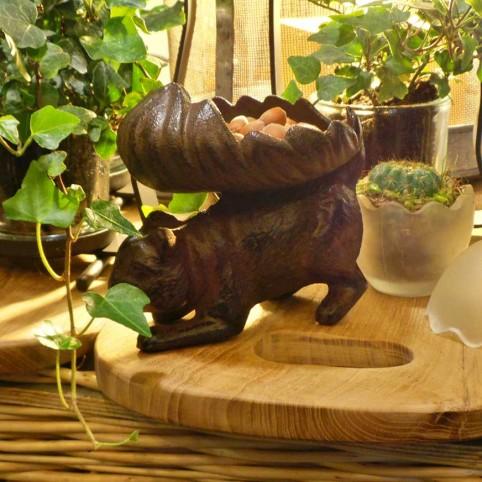 Mangeoire écureuil en fonte
