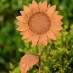 Fleur en métal rouillé - Tournesol