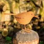 Oiseau en metal rouillé