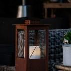 Lanterne carrée 80cm en métal rouillé
