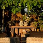Lanterne en Rotin/Bois